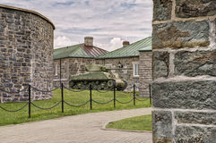WWII M4 Sherman Tank. At La Citadelle in Quebec City, Quebec, Canada stock image