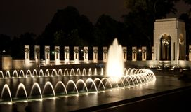 WWII Memorial. World War Two (WWII) Memorial at night in Washington DC (District of Columbia stock photos