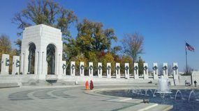 WWII Memorial with Guests Stock Photo
