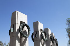 WWII Memorial. Pillars to each state at The National World War II Memorial in Washington D.C., USA Stock Photography