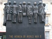 WWII memorial to women Royalty Free Stock Photography