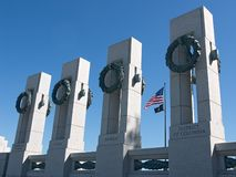WWII Memorial in Washington. WWII Memorial: Backlit, clear skies Stock Image