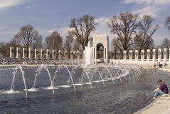 WWII Memorial - Washington, D.C. Tourists at the WWII Memorial - Washington, D.C Stock Photography