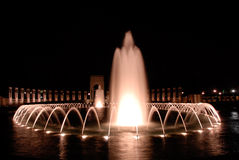 WWII Memorial in Washington DC. WWII Memorial Fountains in Washington DC Royalty Free Stock Photo