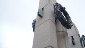 WWII memorial Washington DC stock video footage