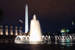WWII Memorial in Washington at night Royalty Free Stock Image