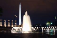 WWII Memorial in Washington at night. DC, USA, 2007 Royalty Free Stock Image
