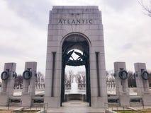 WWII memorial. Water fountains Atlantic war World war 2 memorial Washington DC District of Columbia love winter time cold day fun walk beautiful royalty free stock photos