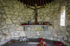 WWII-minnesmärke i Malmedy Royaltyfria Foton