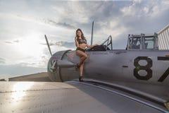 WWII-Modell und -flugzeug Lizenzfreie Stockfotografie