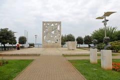 WWII-Monument Rovinj Stockbild