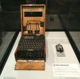 WWII niemiec M4 Enigma kodu maszyna fotografia stock