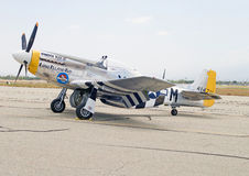 WWII P-51D Mustang Fighter Aircraft Stock Image