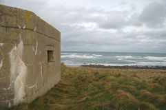WWII Pillbox on hill Royalty Free Stock Photo