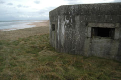 WWII Pillbox on hill Royalty Free Stock Images