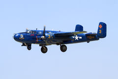 WWII Plane over tinker air force base Royalty Free Stock Images