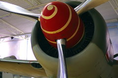 WWII Plane Prop with Spiral stock images