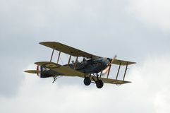 WWII planes at Duxford airshow. Nostalgic WW1 airshow at Duxford showing Historic WW1 fighterplane in flight Stock Photo