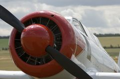 WWII planes at Duxford airshow. Nostalgic WWII airshow at Duxford showing plenty of spitfires, mustangs and B17's Royalty Free Stock Photos