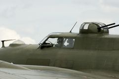 WWII planes at Duxford airshow. Nostalgic WWII airshow at Duxford showing Detail of WWII B17 bomber Stock Photography