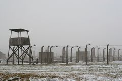 WWII prisoner camp at Auschwitz in Poland Royalty Free Stock Photos