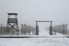WWII prisoner camp at Auschwitz in Poland Royalty Free Stock Photography