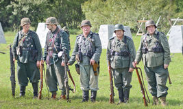 WWII reenactment Royalty Free Stock Images