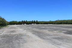 WWII Ruins on Tinian 2. American World War II airbase on Tinian in the Mariana Islands. The Enola Gay B-29 bomber took off from this base before dropping an Royalty Free Stock Images