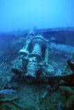 WWII shipwreck. In the Solomon Islands royalty free stock photo