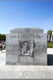 WWII Stone Plaque Memorial Royalty Free Stock Image