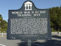 WWII 4th Infantry Training Site Marker royalty free stock photography