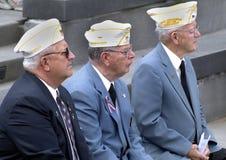WWII-Veterane an der Zeremonie in Annapolis, Md lizenzfreie stockfotos