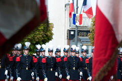 WWII Victory Day Tribute in France Stock Image