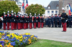 WWII Victory Day Tribute in France Stock Photos
