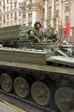 WWII victory parade, 2011, Moscow, Russia Stock Photo