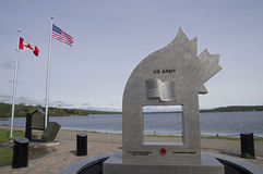 WWII Vintage Military Memorial Stock Image