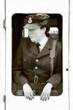 WWII WAAF Frau in der Uniform lizenzfreie stockfotografie
