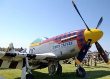 WWII WW2 Mustang Fighter Plane. WWII WW2 American fighter plane P51 Mustang on display at on airshow 2009 Royalty Free Stock Image