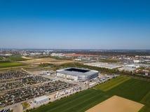 WWK-Arena - das offizielle Fu?ballstadion von FC Augsburg lizenzfreies stockbild