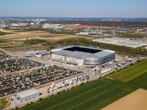 WWK-Arena - das offizielle Fu?ballstadion von FC Augsburg lizenzfreies stockfoto
