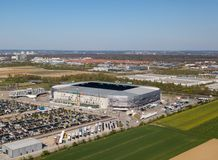 WWK arena - the official football stadium of FC Augsburg stock images