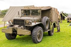 WWll US Army Dodge WC Series Truck. A WWII US Army Dodge WC Series Truck used by military re-enactors. Part of the 2017 M5 Living History Show at Spetchley Park stock photos
