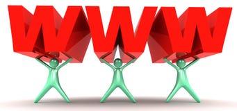 WWW в 3D иллюстрация штока