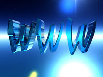 WWW 10. This is the www internet sign Royalty Free Stock Photo