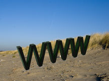 Www. World wide web on the beach Stock Photos