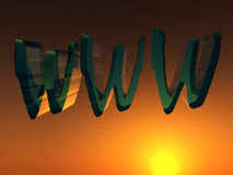 WWW 11. This is the www internet sign Stock Image