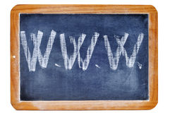 Www. Written with chalk in a blackboard Stock Photography