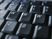 Www. Isolated on laptop keyboard Royalty Free Stock Photos