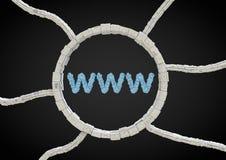 φουτουριστική τυπογραφία www Στοκ εικόνα με δικαίωμα ελεύθερης χρήσης