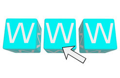 Www. On blue cubes 3d vector illustration